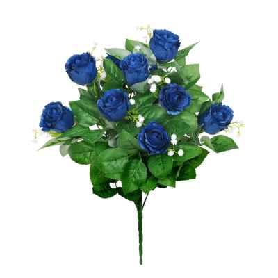45CM DARK BLUE ROSEBUD FOLIAGE GYPSOPHILA X 1