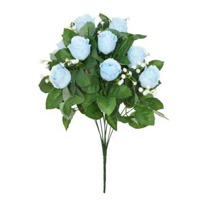 45CM LIGHT BLUE ROSEBUD FOLIAGE GYPSOPHILA X