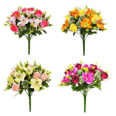 34CM ALSTROMERIA BERRY BALL ROSE X 24 BOUQUET