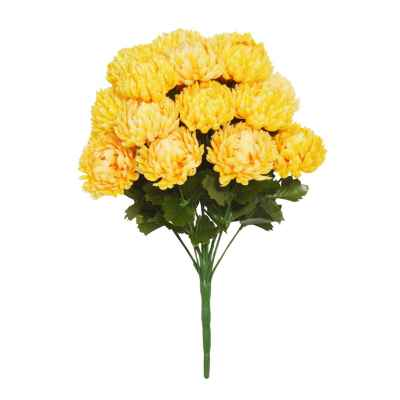 38CM YELLOW CHRYSANTHEMUM X 18 BOUQUET