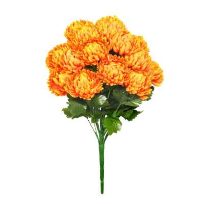 38CM PUMPKIN CHRYSANTHEMUM X 18 BOUQUET