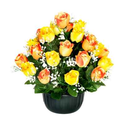 38CM YELLOW/ORANGE ROSEBUD GYPSOPHELIA X 29 I