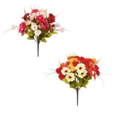 40CM AUTUMN MIX X 16 BOUQUET
