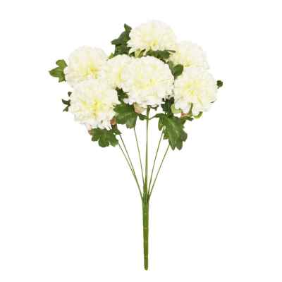 45CM CREAM CHRYSANTHEMUM X 7 BOUQUET