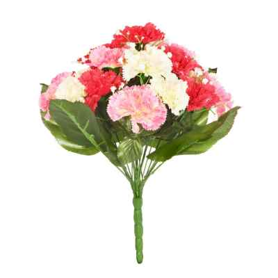 36CM CARNATION GYPSOPHILA X 19 BOUQUET