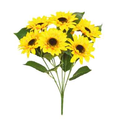 50CM YELLOW SUNFLOWER X 7 BOUQUET