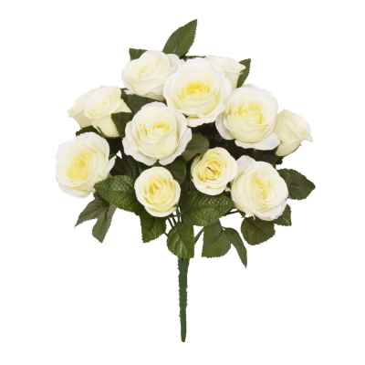 32CM CREAM ROSE X 13 BOUQUET
