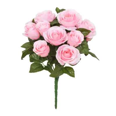 32CM PINK ROSE X 13 BOUQUET