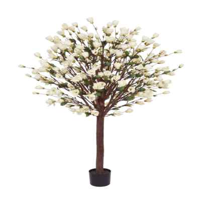 205CM CREAM MAGNOLIA TREE IN POT (SINGLE)