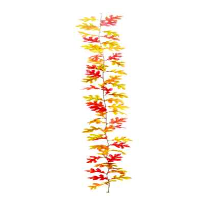 180CM ORANGE OAK LEAF GARLAND X 60