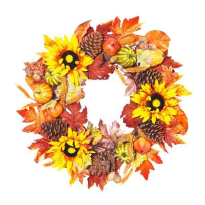 60CM LUXURY AUTUMN WREATH