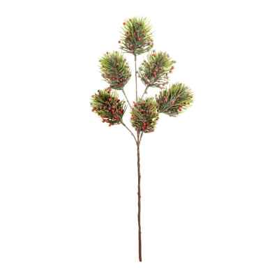 58CM FROSTED PINE BERRY SPRAY