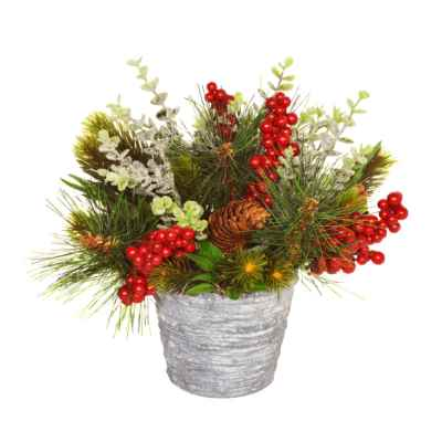 25CM CHRISTMAS FOLIAGE IN POT