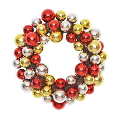 38CM RED/GOLD/SILVER BAUBLE X 55 WREATH