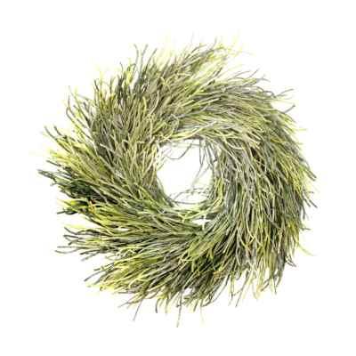 45CM GLITTER GRASS WREATH