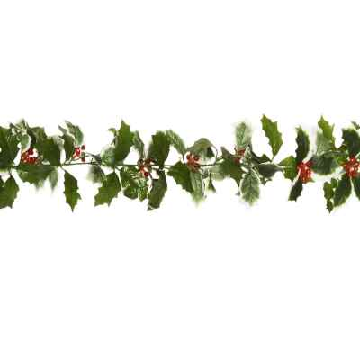 183CM HOLLY RED GLITTER BERRY GARLAND